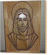 Jesus Frame Wood Print