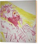 Jesus Glory Wood Print