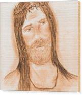 Jesus In The Light Wood Print