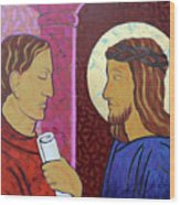Jesus Is Condemned Wood Print