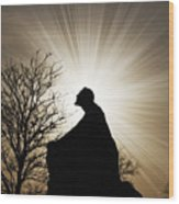 Jesus Is The Light Wood Print by Jeramie Curtice
