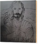 Jesus Light Of The World Full Wood Print