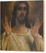 Jesus Meets The Daughters Of Jerusalem. Jesus Comfort Them. 8. Station Of The Cross Wood Print