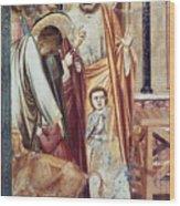 Jesus & Moneychanger Wood Print