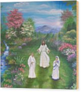 Jesus Mother Theresa And Gandhi Wood Print
