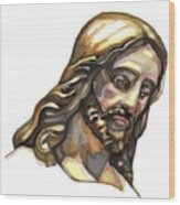 Jesus No 3 Wood Print by Edward Ruth
