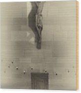 Jesus On The Cross Chapel Icon Wood Print