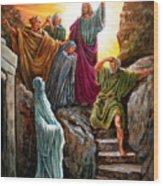 Jesus Raises Lazarus Wood Print