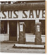 Jesus Saves 1973 Wood Print