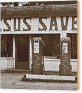 Jesus Saves 1973 Wood Print