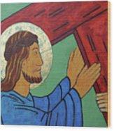 Jesus Takes Up His Cross Wood Print