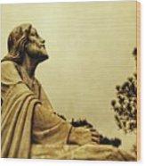 Jesus Teach Us To Pray - Christian Art Prints Wood Print