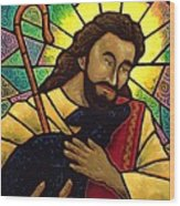 Jesus The Good Shepherd Wood Print