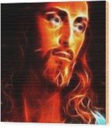 Jesus Thinking About You Wood Print by Pamela Johnson