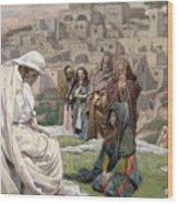 Jesus Wept Wood Print by Tissot