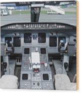 Jet Airplane Cockpit Wood Print by Jaak Nilson