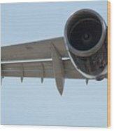 Jet Engine Detail Wood Print