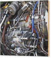 Jet Engine Wood Print