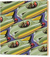Jet Racer Rush Hour Wood Print by Ron Magnes