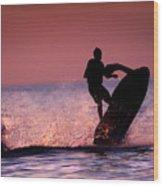 Jet Ski On Lake Erie Wood Print