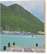 Jet Ski On The Lagoon Caribbean St Martin Wood Print