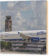 Jetblue Fll Wood Print