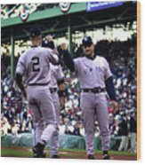 Jeter And Torre Wood Print