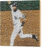 Jeter Walk-off Mosaic Wood Print