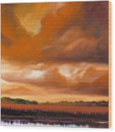 Jetties On The Shore Wood Print