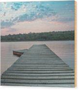 Jetty Sunset Wood Print