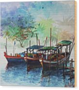 Jetty_01 Wood Print