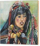 Jeune Femme Berbere De Atlas Marocain Wood Print