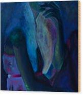Jeune Fille A La Cigarette Wood Print