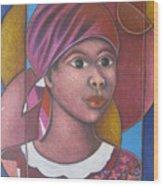 Jeune Fille En Rose Wood Print