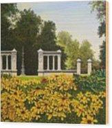Jewel Box Gardens Wood Print