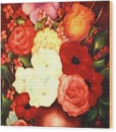 Jewel Flowers Wood Print