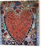 Jewel Heart Wood Print