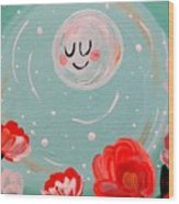 Jewel Moon Wood Print