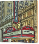 Jewel Of The South Tivoli Chattanooga Historic Theater Art Wood Print