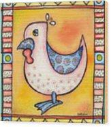 Jewel Rooster 1 Wood Print