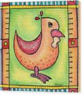 Jewel Rooster II  Wood Print