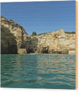 Jewel Toned Ocean Art - Gliding By Sea Caves And Secluded Beaches Wood Print