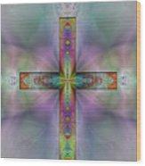 Jeweled Cross Wood Print