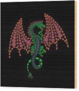 Jeweled Dragon Wood Print