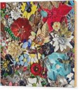 Jeweled Garden Wood Print