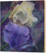 Jeweled Iris Wood Print