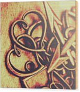 Jewelry Love Background Wood Print