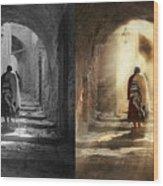 Jewish - Evening Prayers 1934 - Side By Side Wood Print
