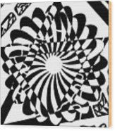 Jewish Pride Maze  Wood Print