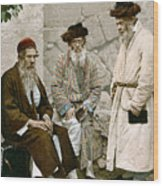Jews In Jerusalem, C1900 Wood Print